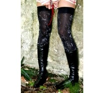 Splash Metallic Thigh Highs and Hosiery