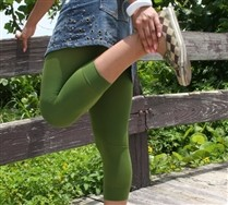 Colored Microfiber Footless Tights