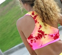 Splash Color Sports Bra and Hosiery