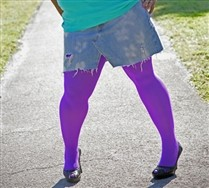 Colorful Plus Sized Nylon/Lycra Tights