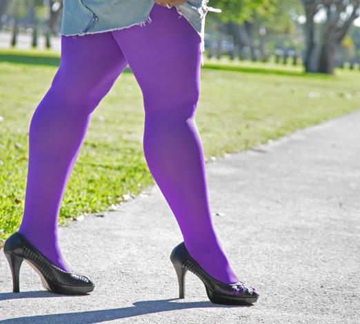 plus sized nylonlycra tights colored - Collants Opaques Colors