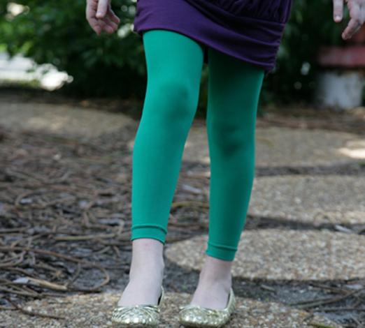 Kids Microfiber Footless Tights Colored Tights And Leggings