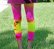 Colored Kids MicroFiber Footless Splash Color Tights