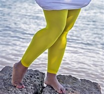 Colored Plus Sized Nylon/Lycra Footless Tights