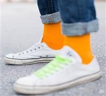 Solid Color Mens Nylon Socks
