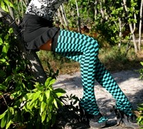 Checkerboard Thigh Highs