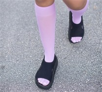 Colored Solid Color  Knee Highs