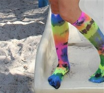 Splash Color Knee Highs