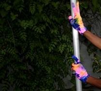 Splash Color Nylon Gloves