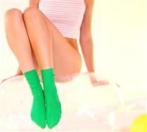 Solid Color Nylon Socks