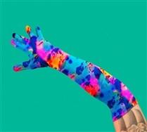 Splash Color Men's Elbow Gloves