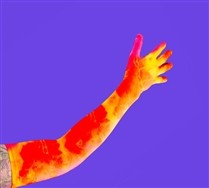 Splash Color Men's Shoulder Gloves
